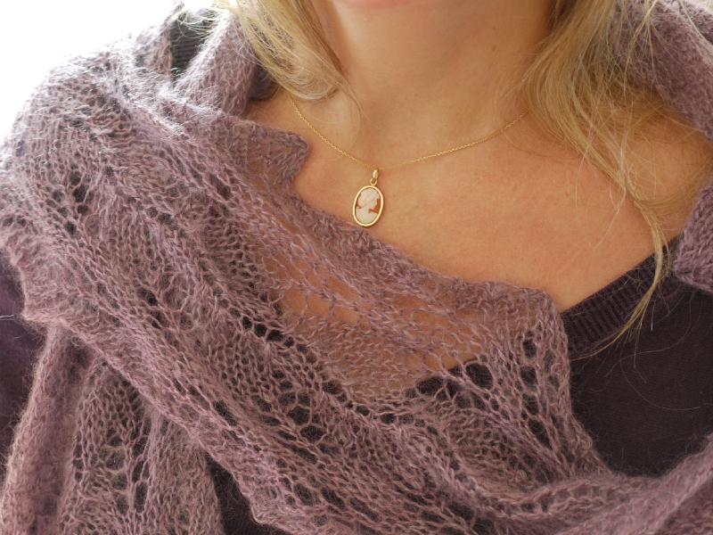 patron tricot foulard dentelle