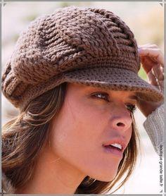 tricoter un bonnet avec visiere