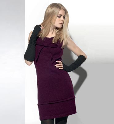 Modele de robe femme au tricot