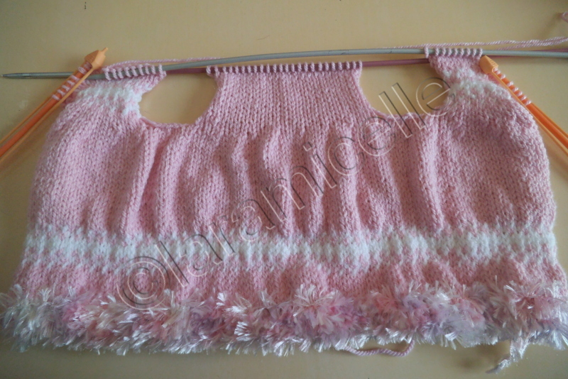 patron tricot gratuit robe 3 mois