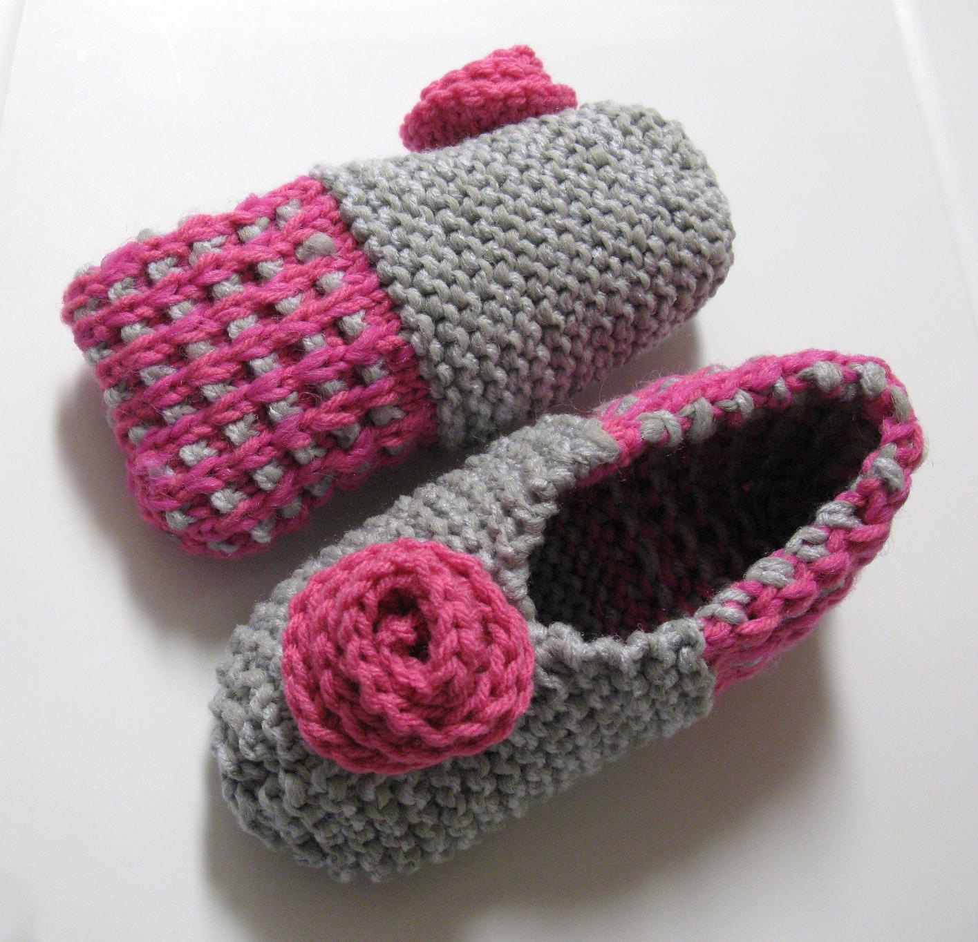 modele tricot pantoufles phentex