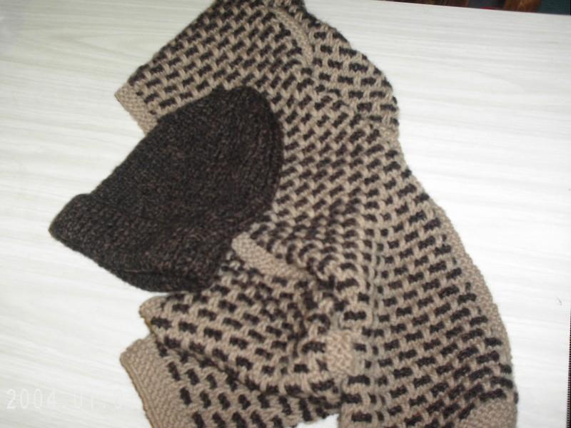 modele tricot echarpe bicolore. Black Bedroom Furniture Sets. Home Design Ideas