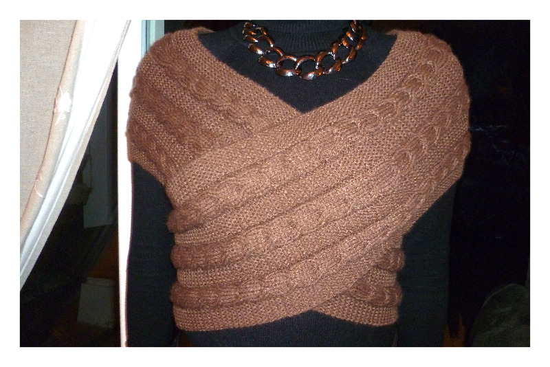 tricoter une echarpe gilet
