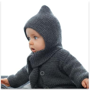 tricoter un bonnet capuche