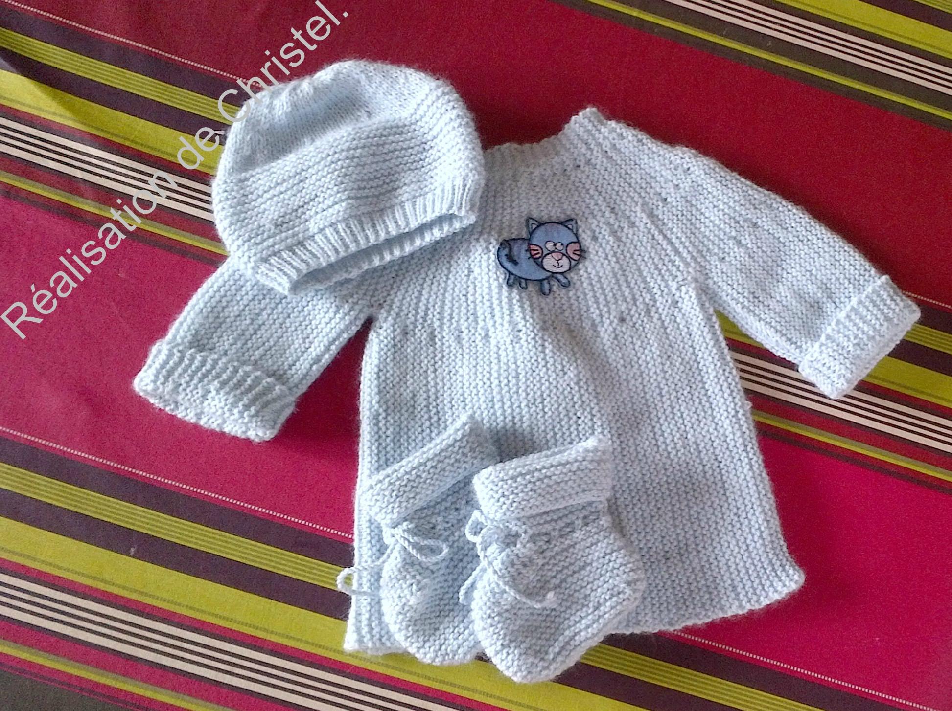 modele tricot bebe gratuit pour debutant