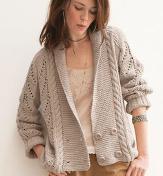 tricoter cardigan femme