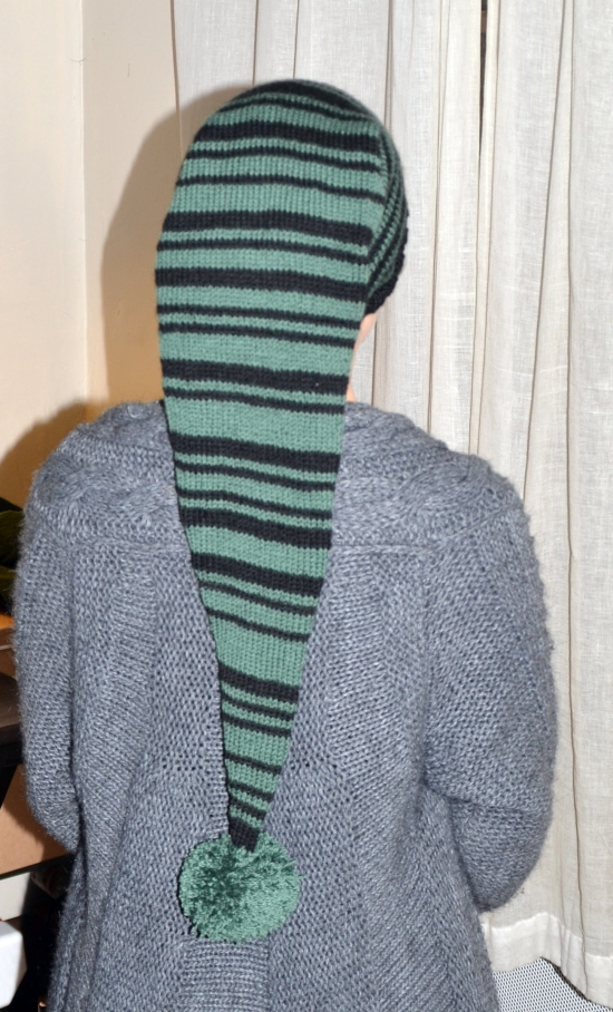 modèle tricot bonnet lutin
