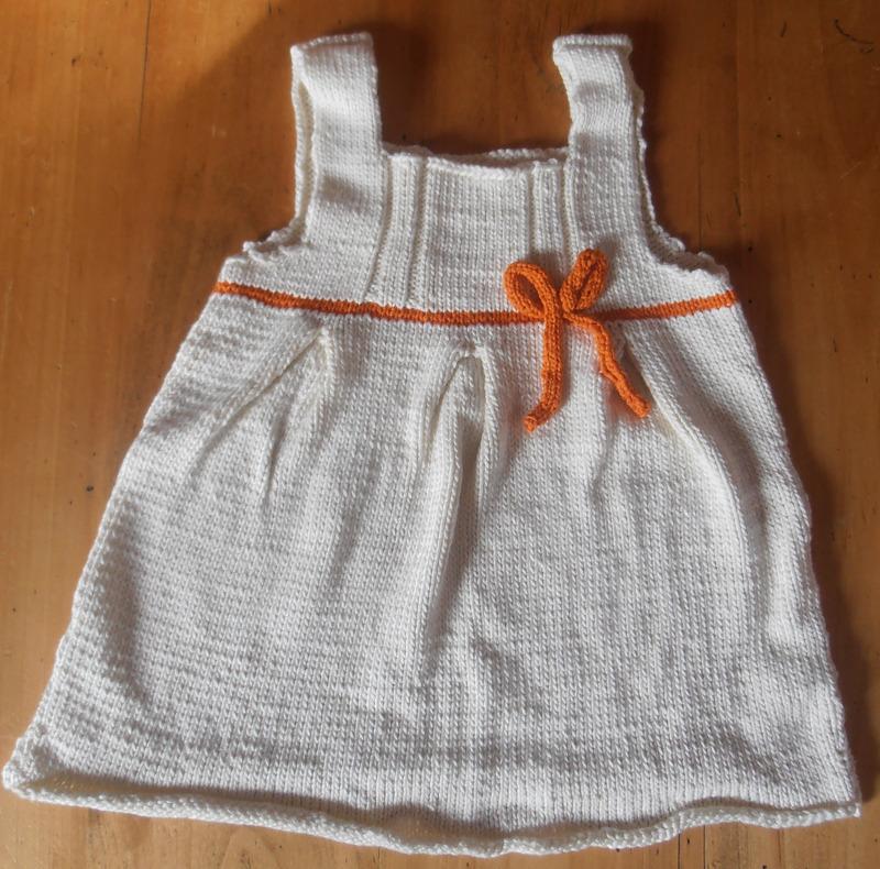 patron tricot robe 18 mois