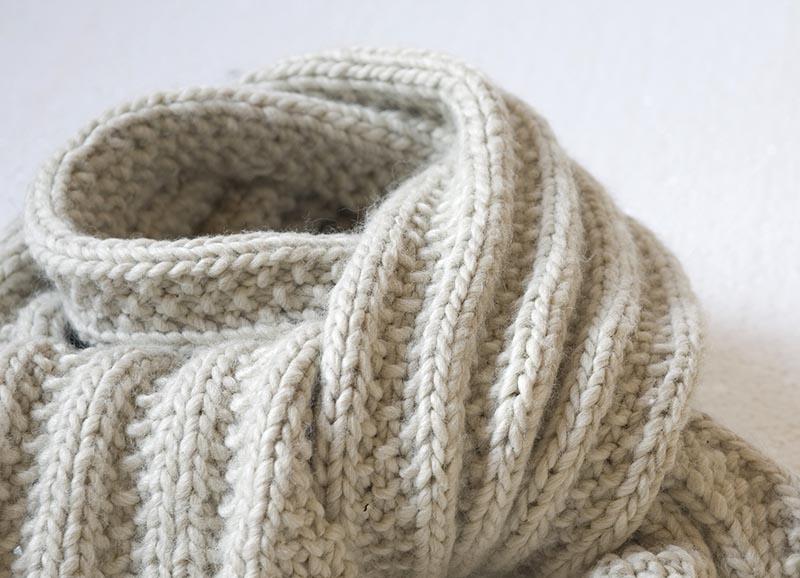 exemple tricot echarpe
