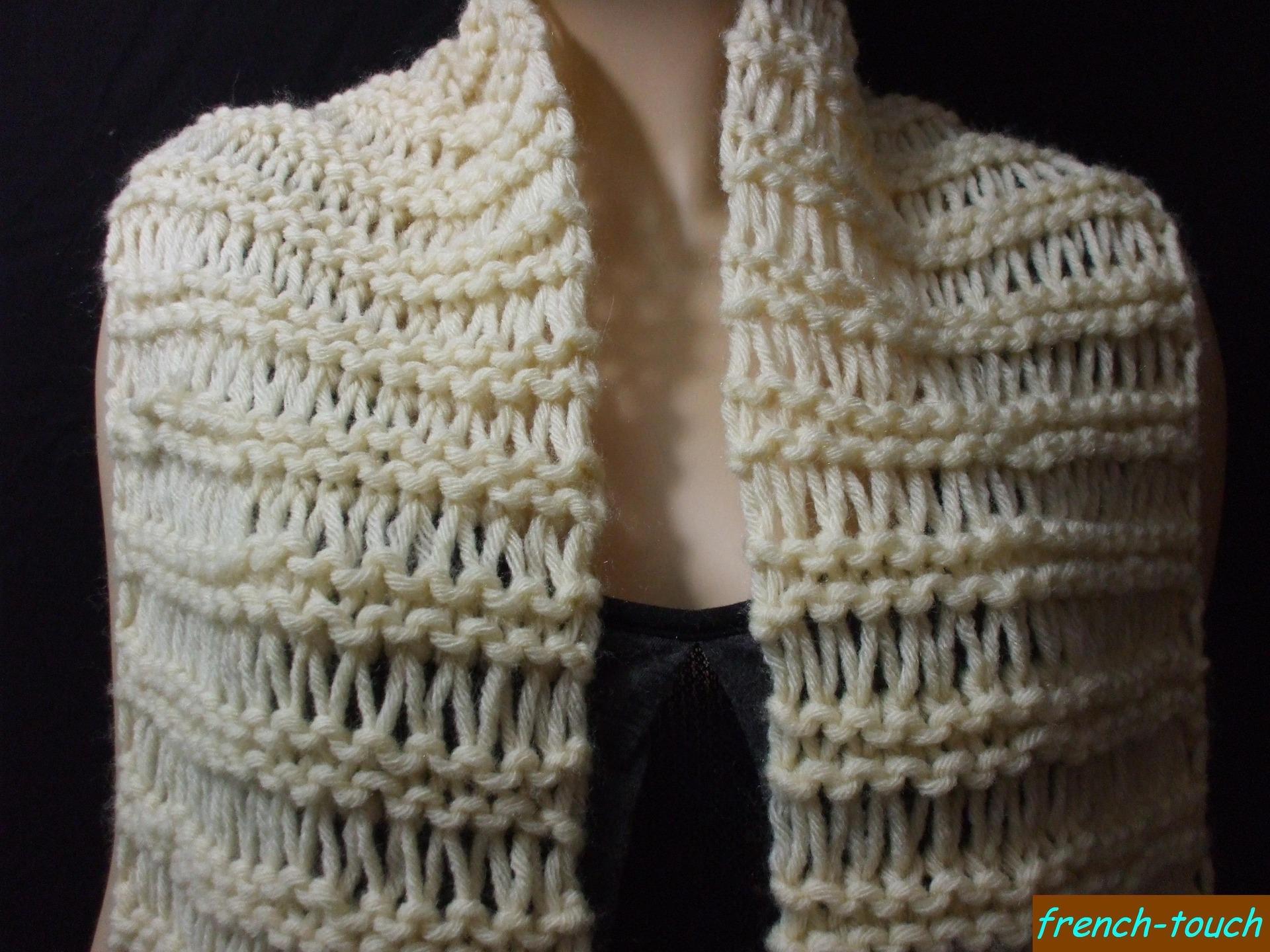Grosse laine Snood,. modèle tricot echarpe adulte 02191027a5c