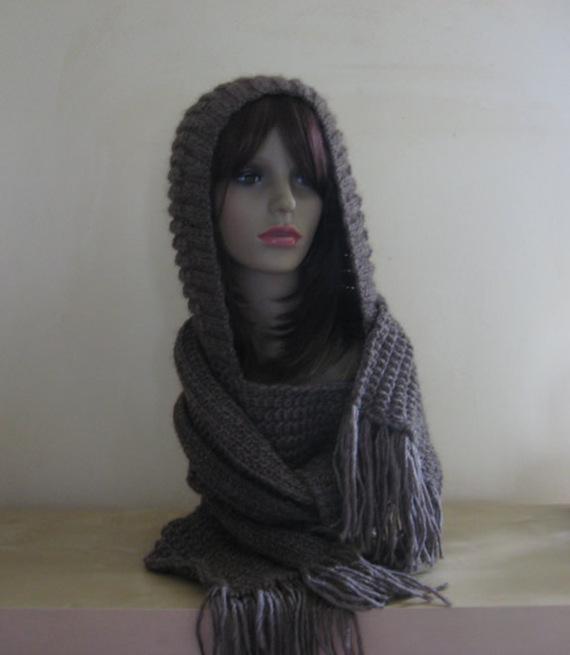 exemple modèle tricot gratuit echarpe capuche ... da7df914f4c