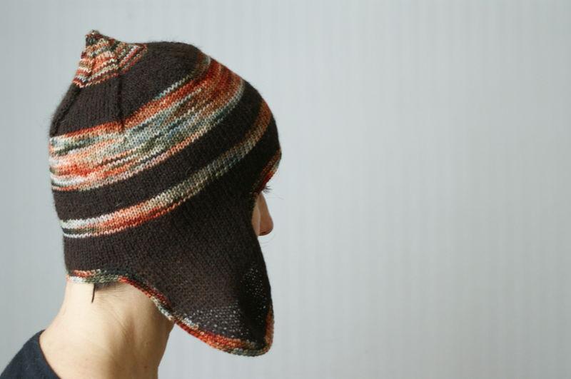 patron tricot bonnet peruvien adulte