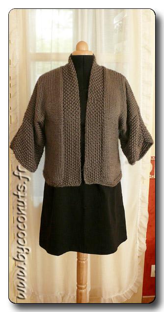 modele tricot veste kimono