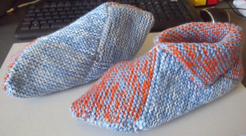 modele gratuit tricot chausson adulte