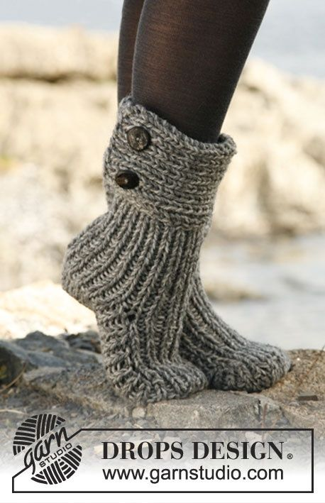modèle tricot chausson en laine pour adulte