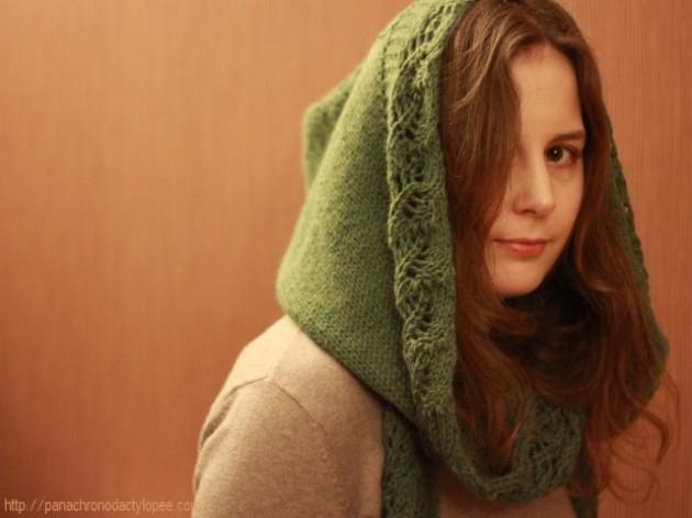 modèle tricot gilet capuche fille