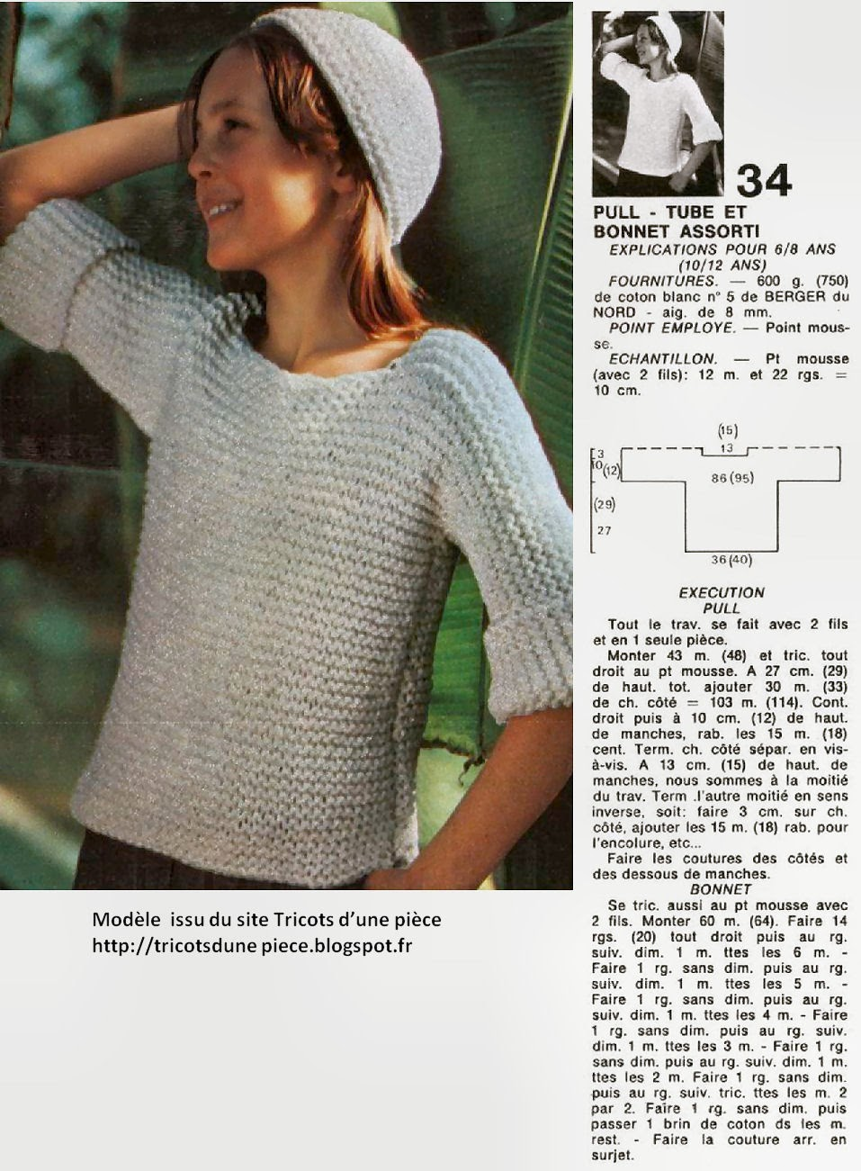 modele tricot pull femme aiguille 8