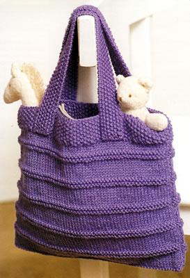 modèle tricot sac facile