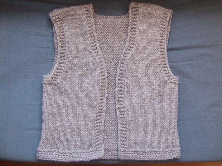 patron tricot gilet sans manche bébé