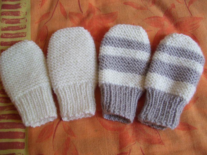 patron tricot moufle bébé