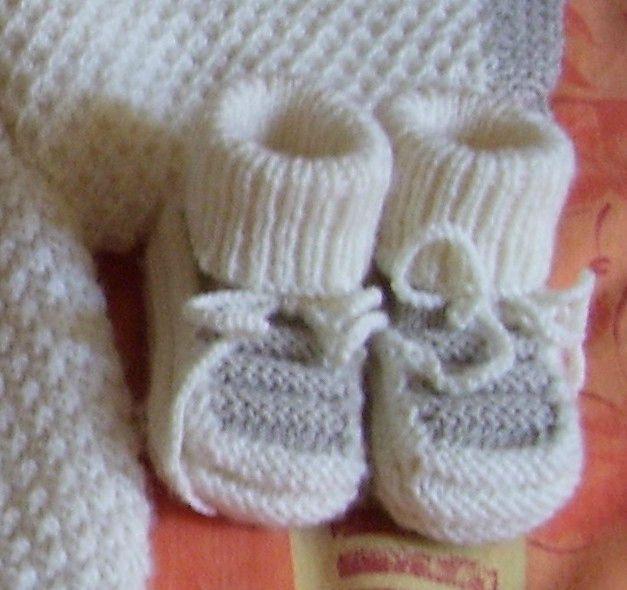 modèle tricot chausson layette gratuit