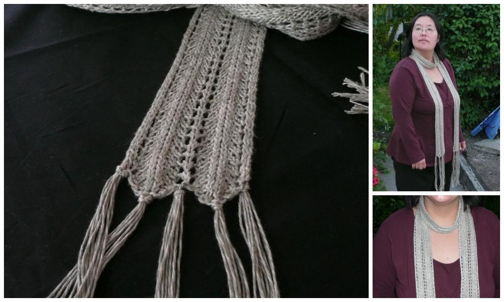 tricoter une echarpe fine