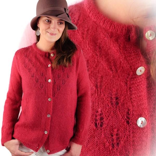 modèle tricot gilet ajoure femme