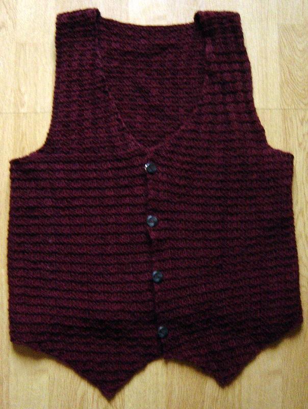 modèle tricot gilet homme sans manche