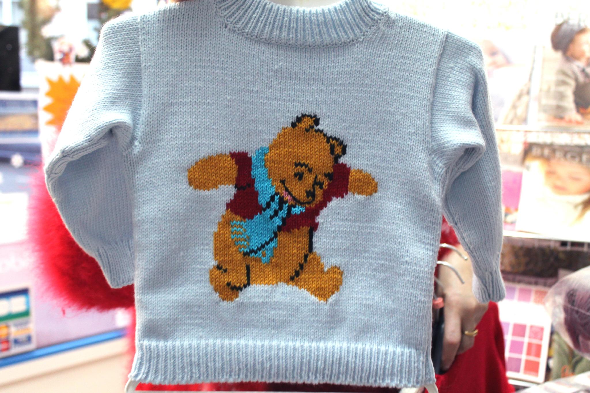 modèle tricot jacquard bébé
