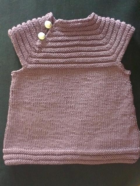 tricot robe bebe facile