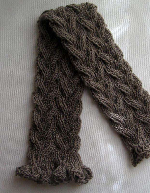 Gratuit patron foulard au tricot - Aiguille a tricoter grande longueur ...