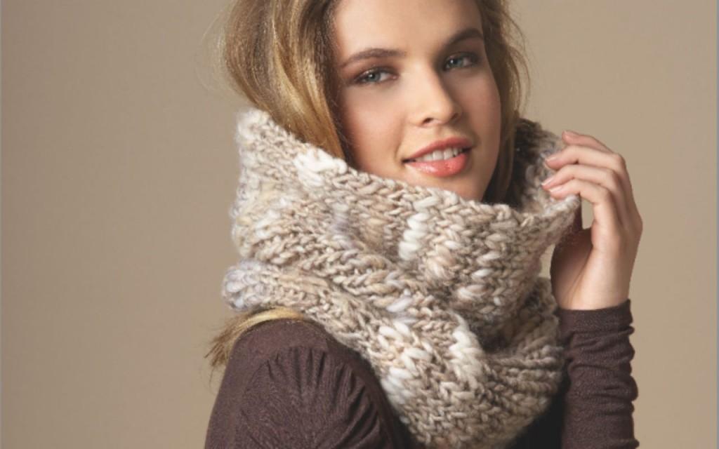 tricoter foulard en rond