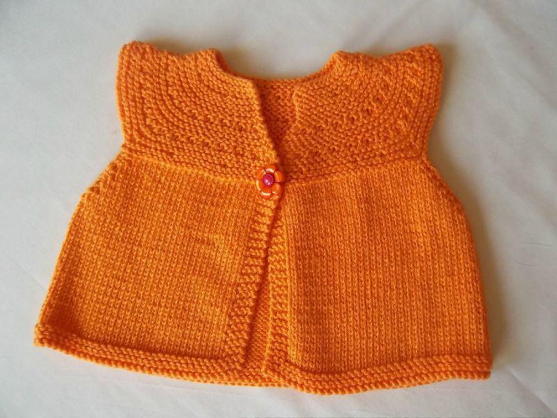 tricot gilet sans manche bebe
