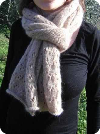 modèle echarpe tricot dentelle gratuit 22a575c46d8