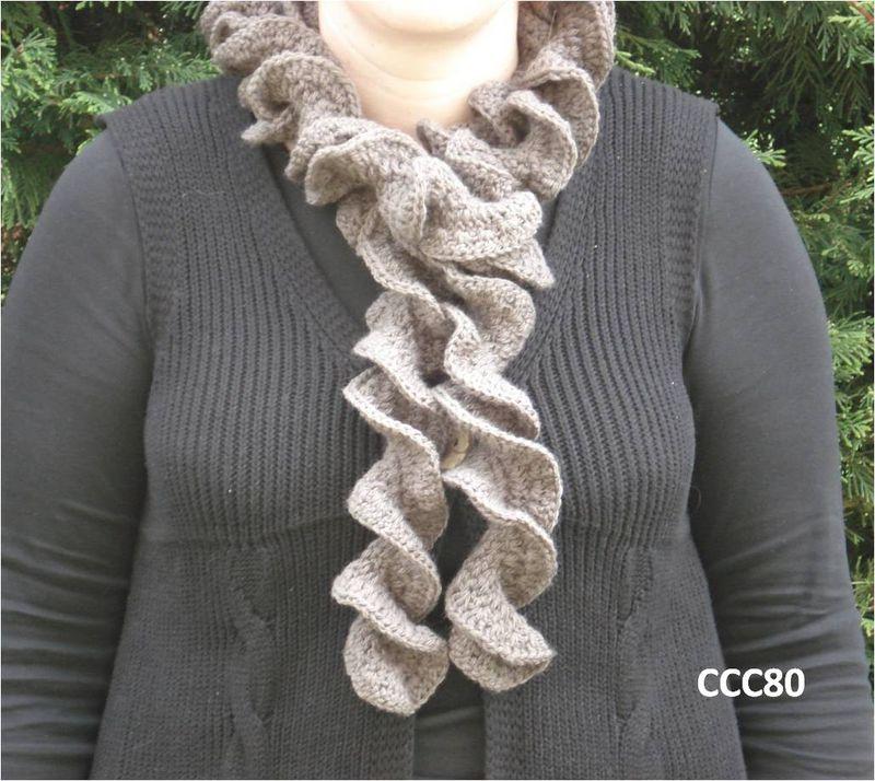 tricoter une echarpe nouille