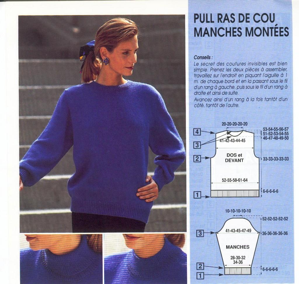 modèle tricot pull femme facile