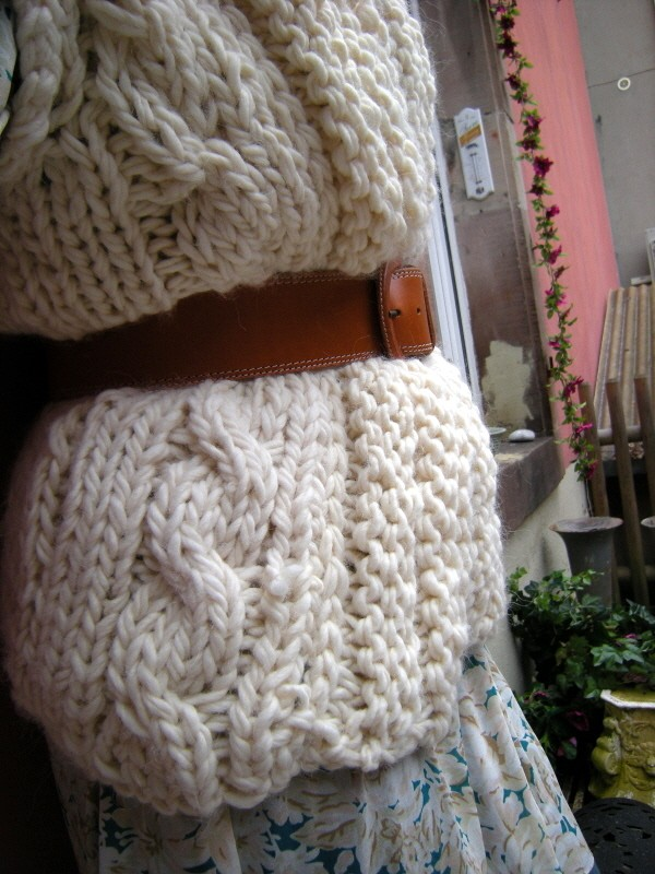 modele tricot pull grosse maille