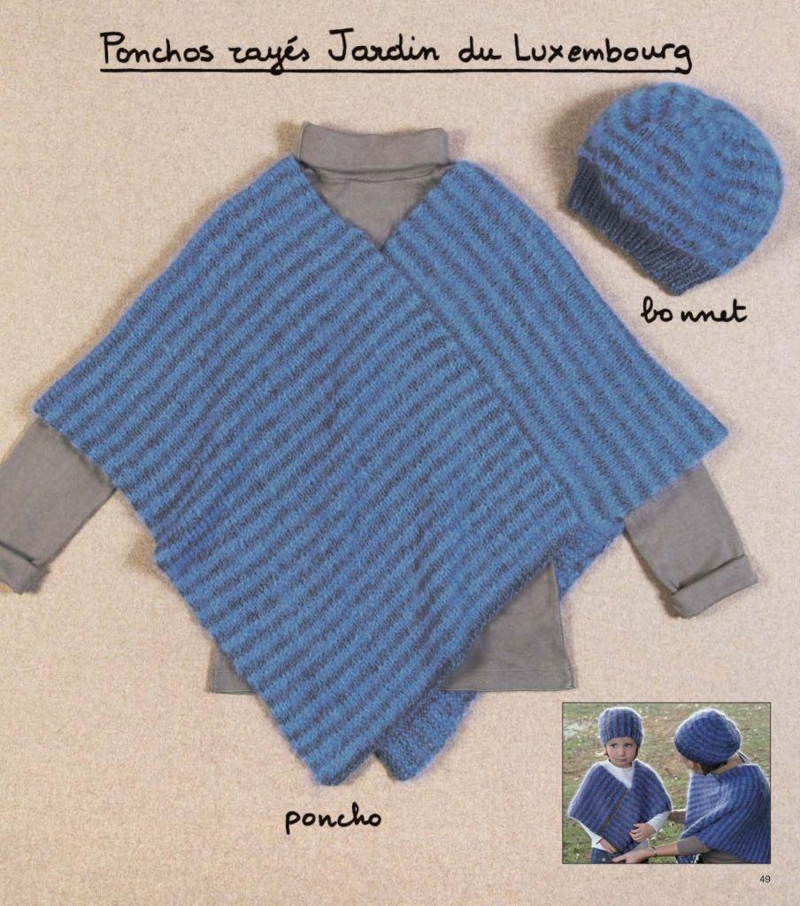 modele poncho tricot 4 ans. Black Bedroom Furniture Sets. Home Design Ideas