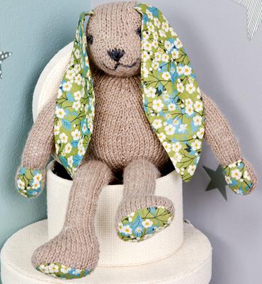 modèle tricot doudou lapin