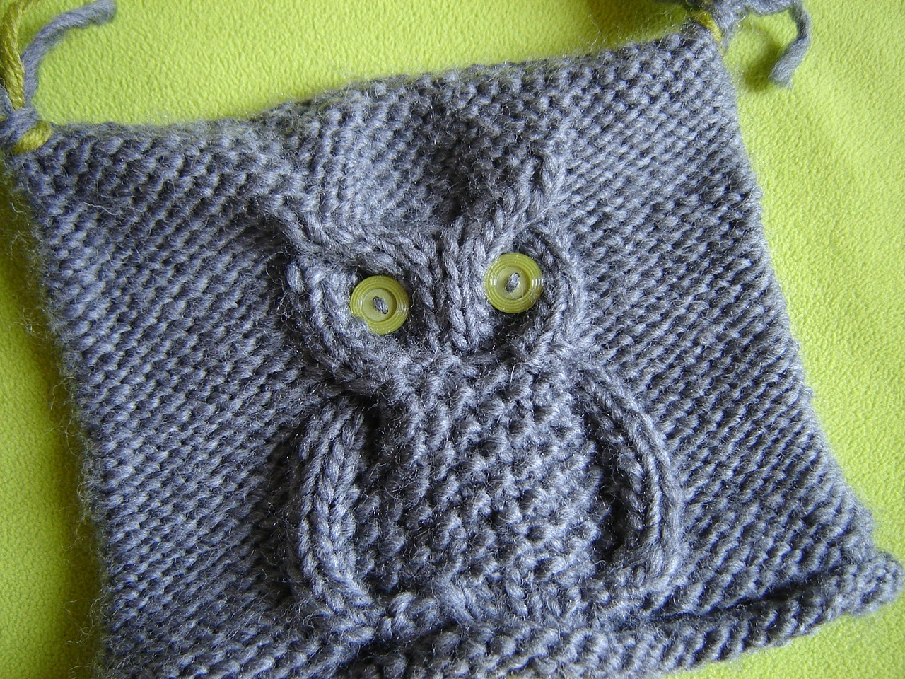 photo patron tricot hibou