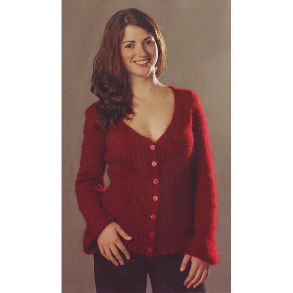 modèle tricot pull encolure v