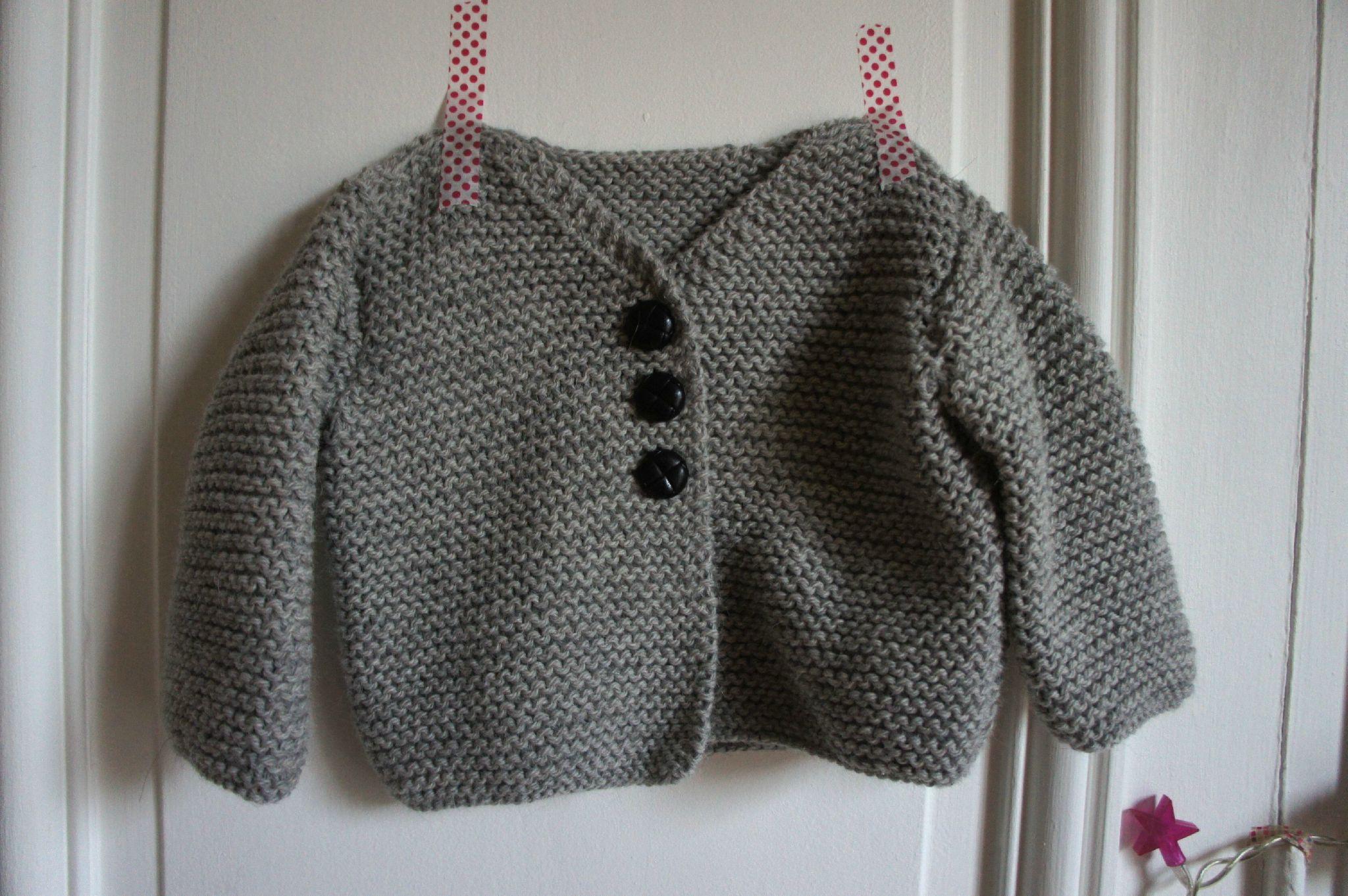 mod le veste tricot pour b b. Black Bedroom Furniture Sets. Home Design Ideas