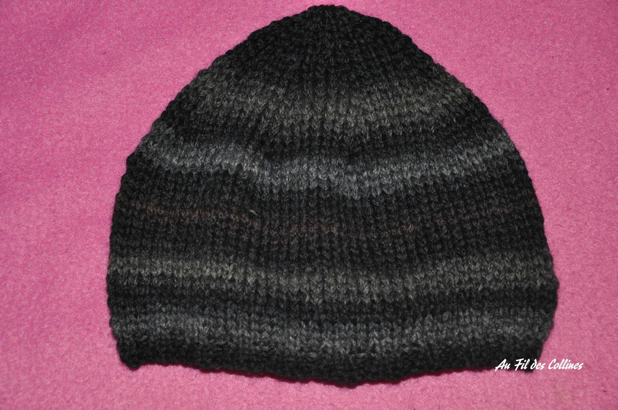 patron tricot bonnet homme facile 84b4119cd75
