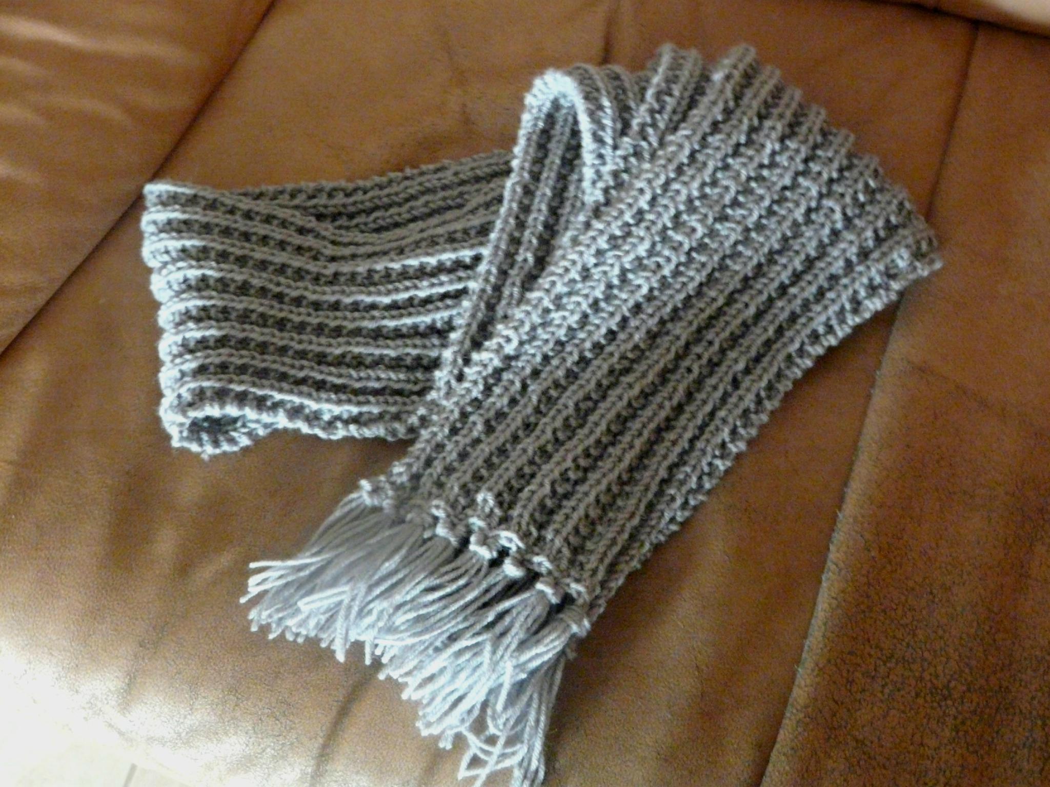 Mod le echarpe tricot 2 ans - Cote 2 2 tricot ...