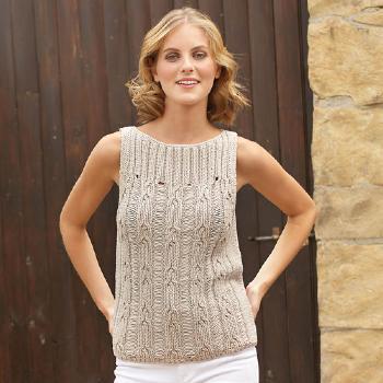 modèle tricot debardeur coton fille