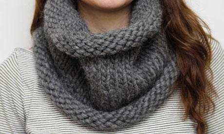 tricoter une echarpe ronde