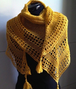 modèle chale au tricot facile gratuit
