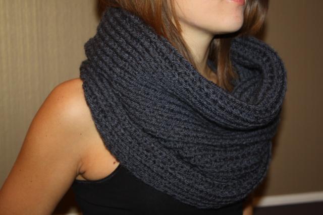 modèle tricot echarpe ronde