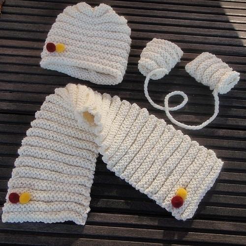 modèle echarpe tricot 2 ans