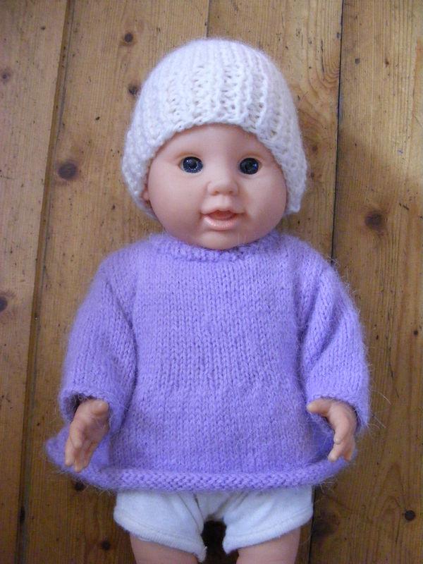 modèle tricot poupon 30 cm gratuit 3563c1a7835c